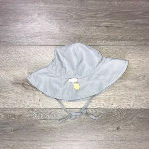 I Play NB Sun Hat Wide Brim Bucket Hat Grey